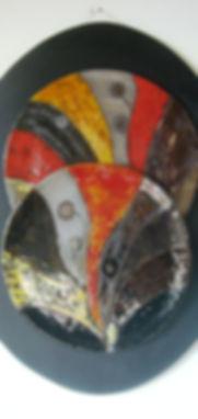 -Composizione- pannello in ceramica,smal