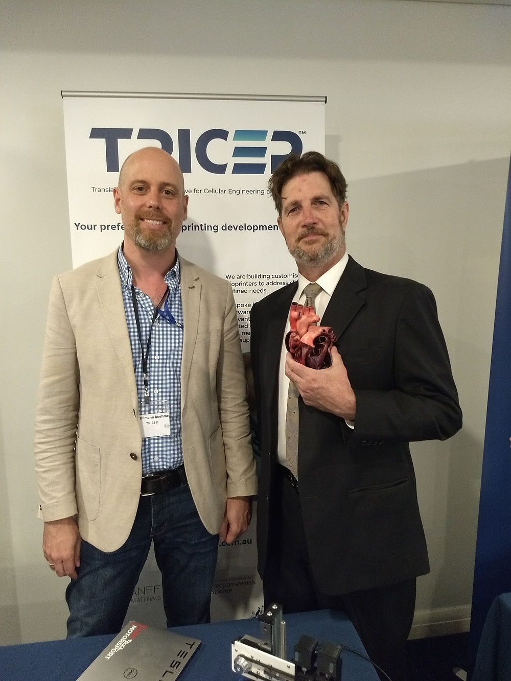 Dr Tillmann Boehme (left) with ABC Illawarra's Nick Rheinberger (right)