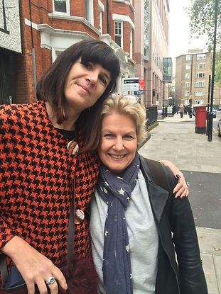 Catherine Mayer with Sandi Toksvig