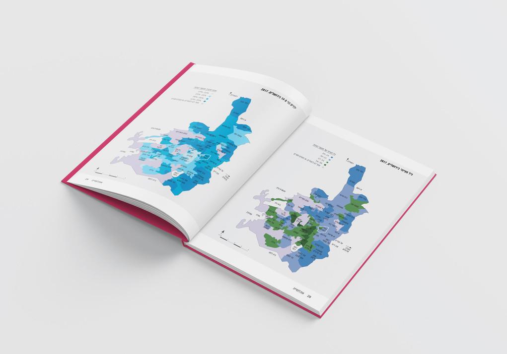 עיצוב מפות דוח מכון ירושלים