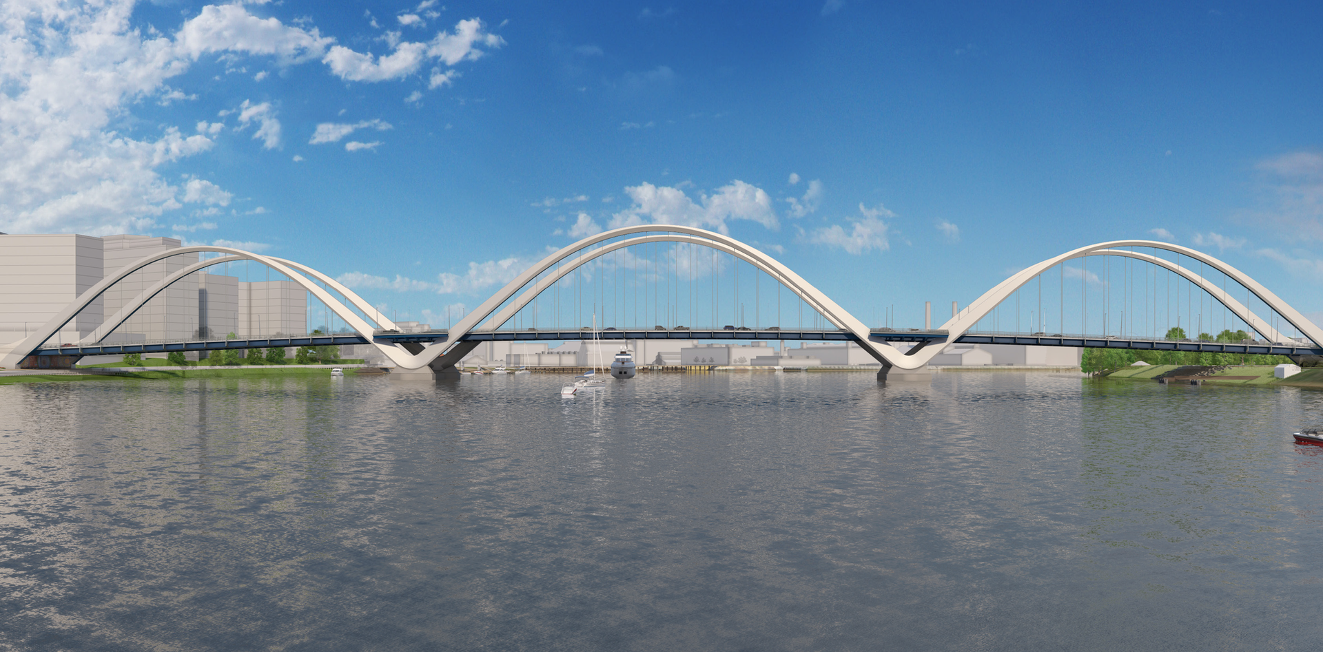 Design illustration of the new Frederick Douglass Memorial Bridge.