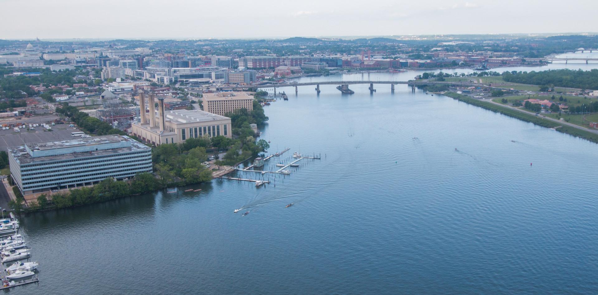 Photo of the existing Frederick Douglass Memorial Bridge.
