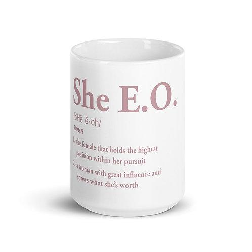 She E.O. Definition Mug