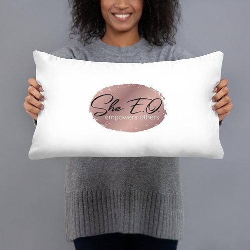 She E.O. Logo Pillow