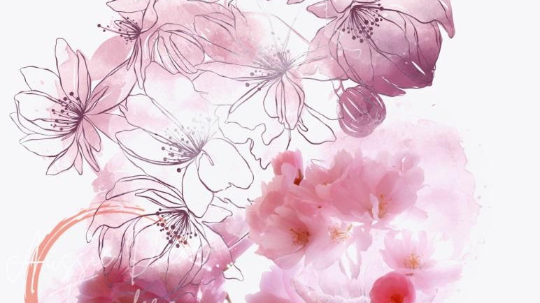 Cherry Blossoms - Luxe Decoupage Paper - 40gsm