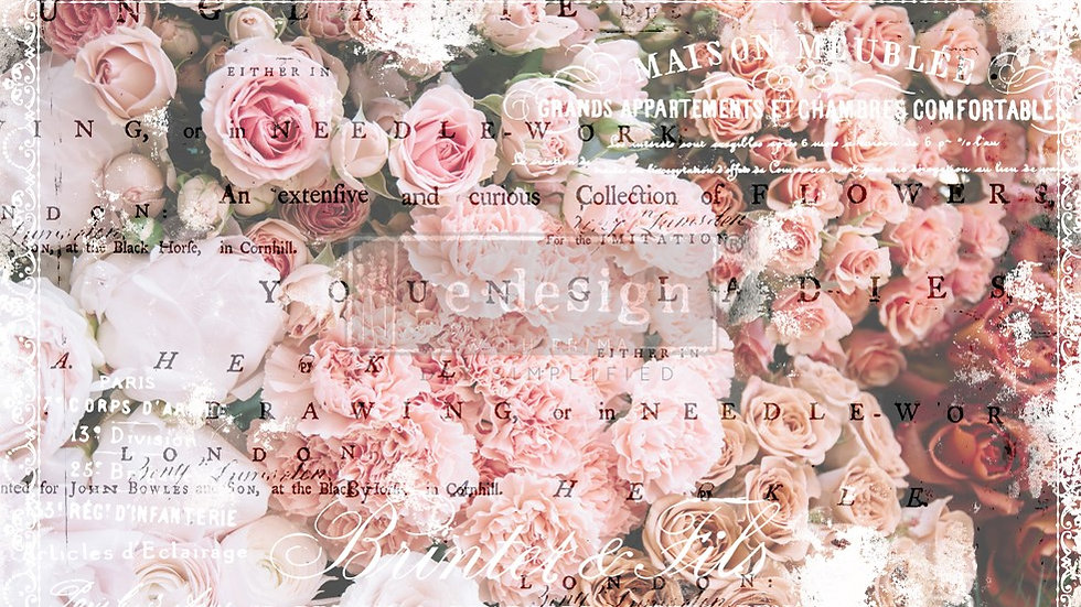 BRAND NEW 'Angelic Rose Garden' Decopage Decor Tissue - Redesign With Prim