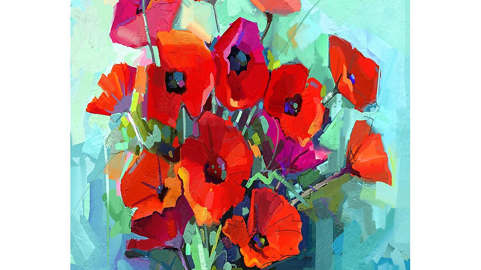 MINT by Michelle Decoupage Paper - Poppies