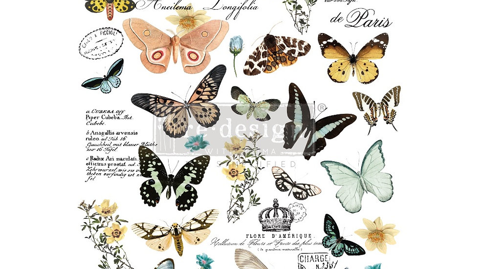 "BRAND NEW 'Butterfly Dance' Decor Transfer - Redesign With Prima - 24""x35"""