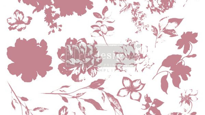 REDESIGN DECOR CLEAR-CLING STAMPS – SWEET BLOSSOMS – 12×12
