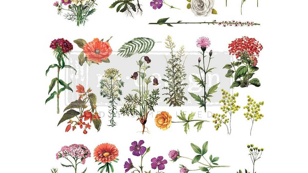 """'Floral Collection' Decor Transfer 
