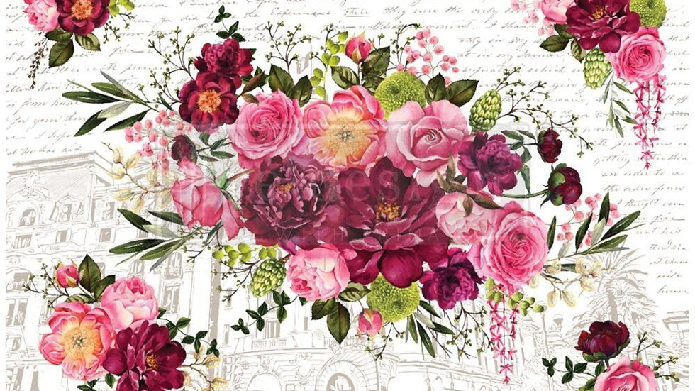 """'Royal Burgundy' Decor Transfer 