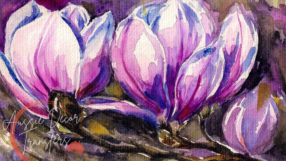 Heaven Scent Magnolia - Self Adhesive Decoupage - Large 59.4cm x 84cm