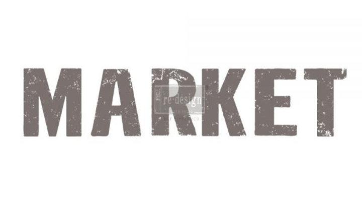 "'Market' Decor Transfer | Redesign With Prima | 27.5"" X 24"""