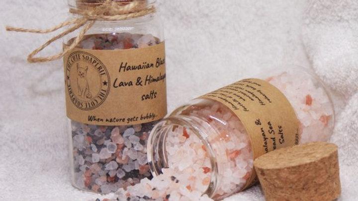 Hawaiian Black Lava & Himalayan Salts