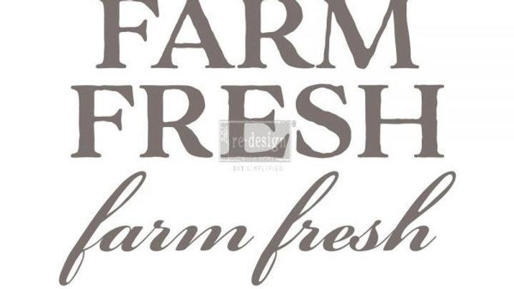 "'Farm Fresh' Decor Transfer | Redesign With Prima | 29.8"" X 23"""