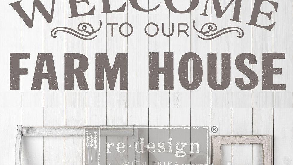 "'Our Farmhouse' Decor Transfer | Redesign With Prima | 36.2"" X 15.7"""