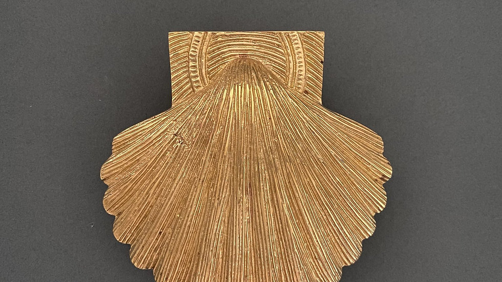 Brass Shell Door Knocker - Brass Finish