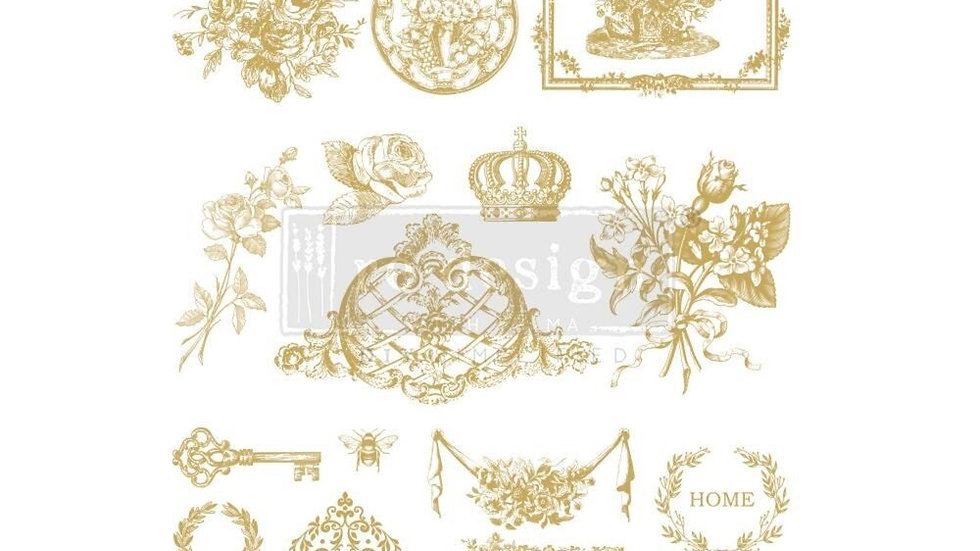 """'Gilded Home & Nature' Decor Transfer 