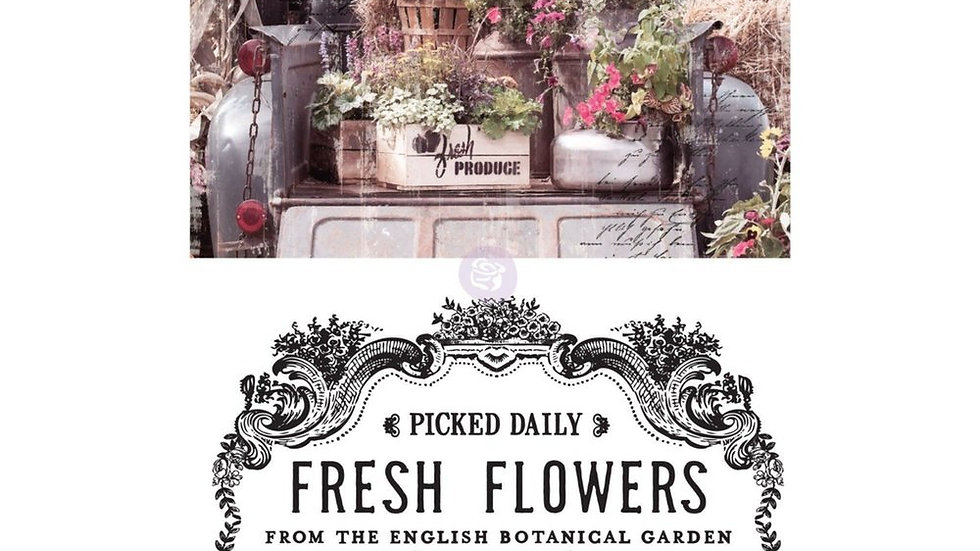 """'Fresh Flowers' Decor Transfer - Redesign With Prima - 24"""" X 34"""""""