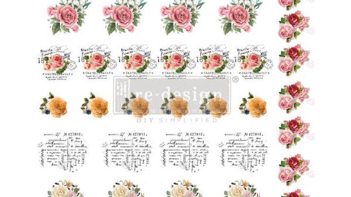 "'Vintage Rose' Furniture Knob Transfer | Re Design With Prima | 9""X11"""