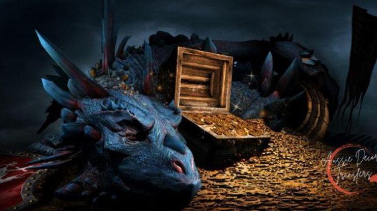 Treasured Dragon - Luxe Decoupage Paper 40gsm