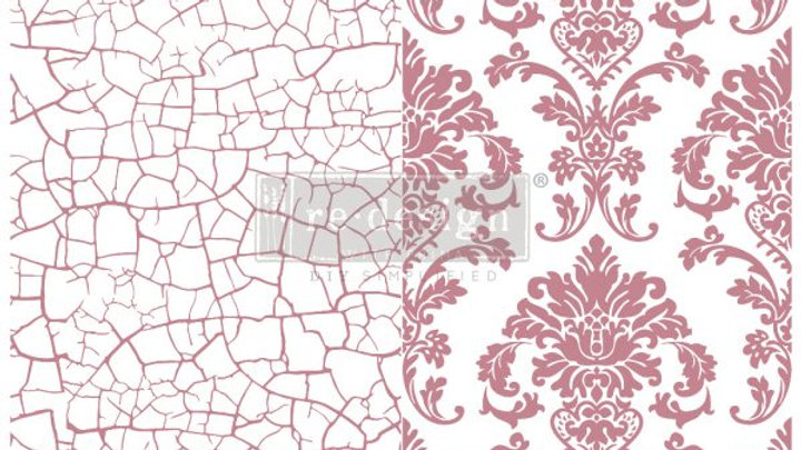 REDESIGN DECOR CLEAR-CLING STAMPS – IMPERIAL CRACKLE – 12×12
