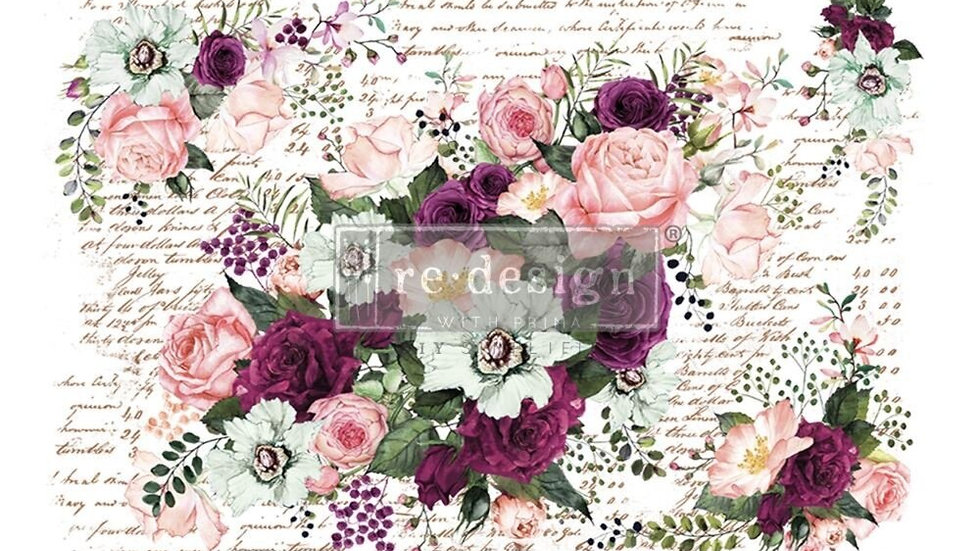 "'Violet Hill' Decor Transfer | Redesign With Prima | Large 47"" X 33"""