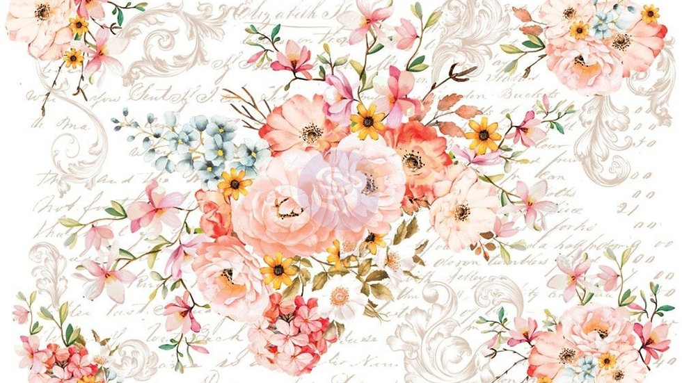 "'Rose Celebration' Decor Transfer | Redesign With Prima | Large 44"" X 30"""