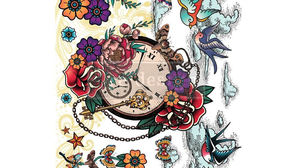 """CeCe 'Inked Flash' Decor Transfer   Redesign With Prima   Large 24"""" X 35"""""""