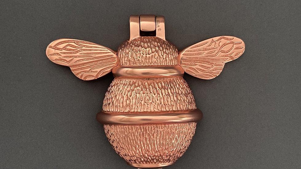 Brass Bumble Bee Door Knocker - Rose Gold Finish
