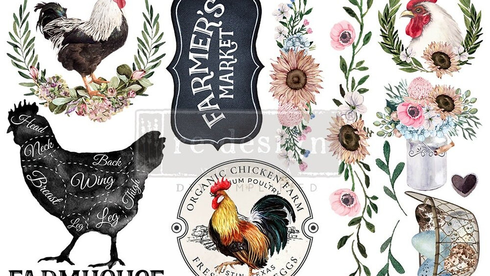 """Morning Farmhouse' Small Transfer 