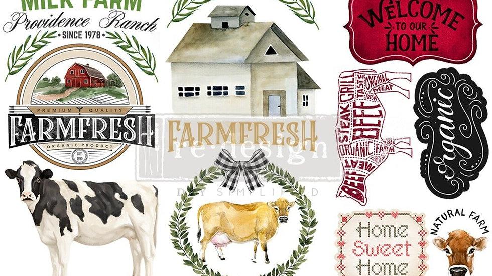"'Home & Farm' Small Transfer | Redesign With Prima | 6"" X 12"""
