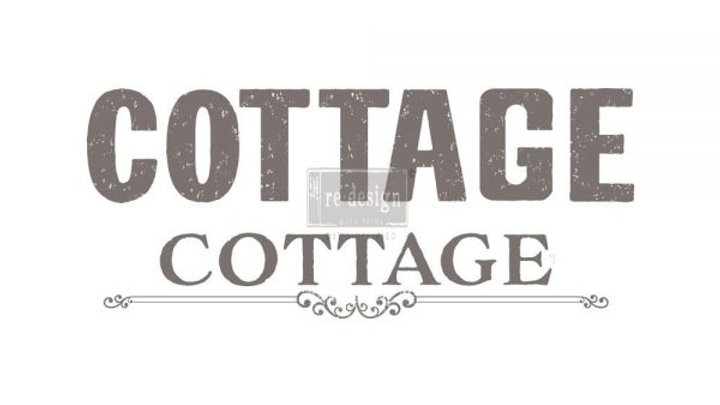 "'Cottage' Decor Transfer | Redesign With Prima | 27.5"" X 24"""