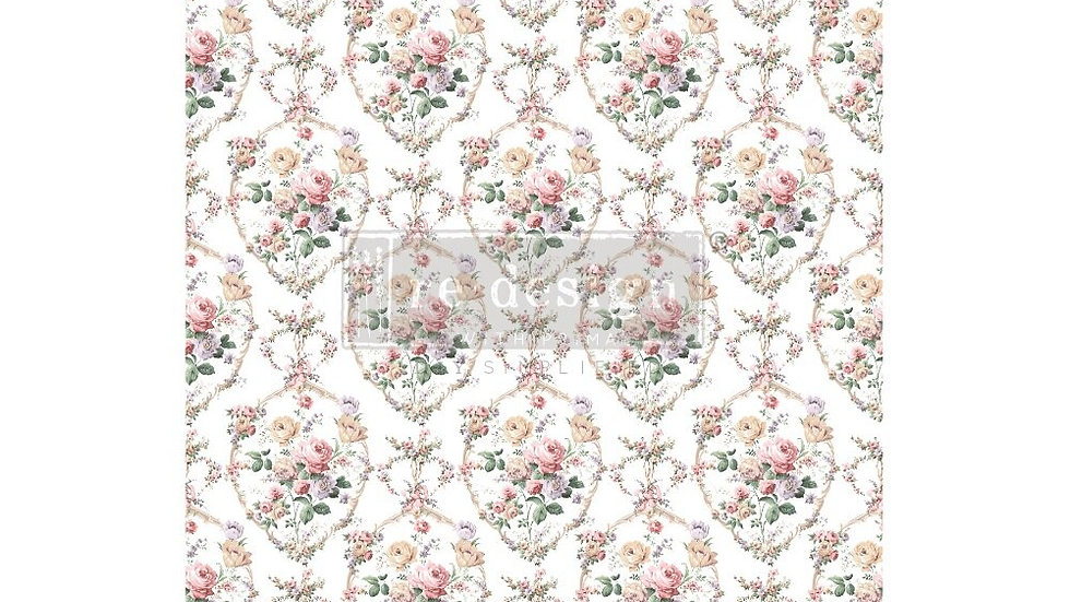 "'Floral Court' Decor Transfer | Redesign With Prima | Large 22"" X 34"""