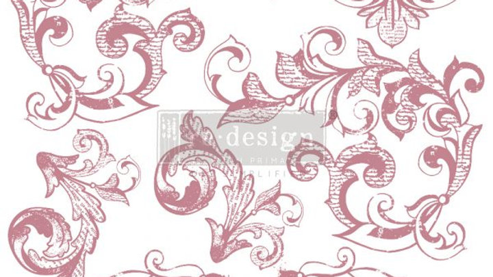 REDESIGN DECOR CLEAR-CLING STAMPS – ELEGANT SCROLLS – 12×12