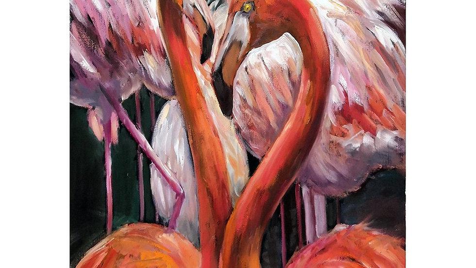 MINT by Michelle Decoupage Paper - Flamingo