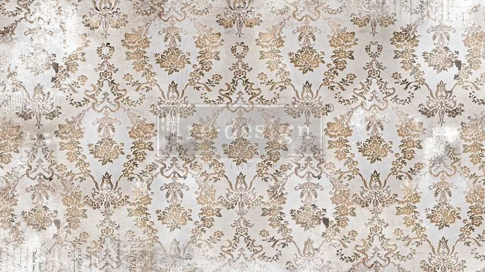 BRAND NEW 'Washed Damask' Decopage Decor Tissue - Redesign With Prim