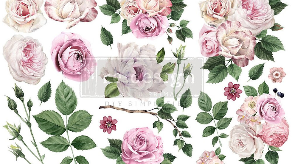 """'Delicate Roses' Small Transfer 