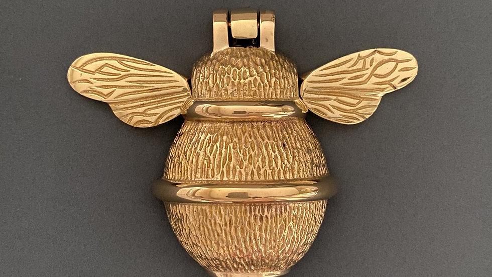 Brass Bumble Bee Door Knocker - Brass Finish
