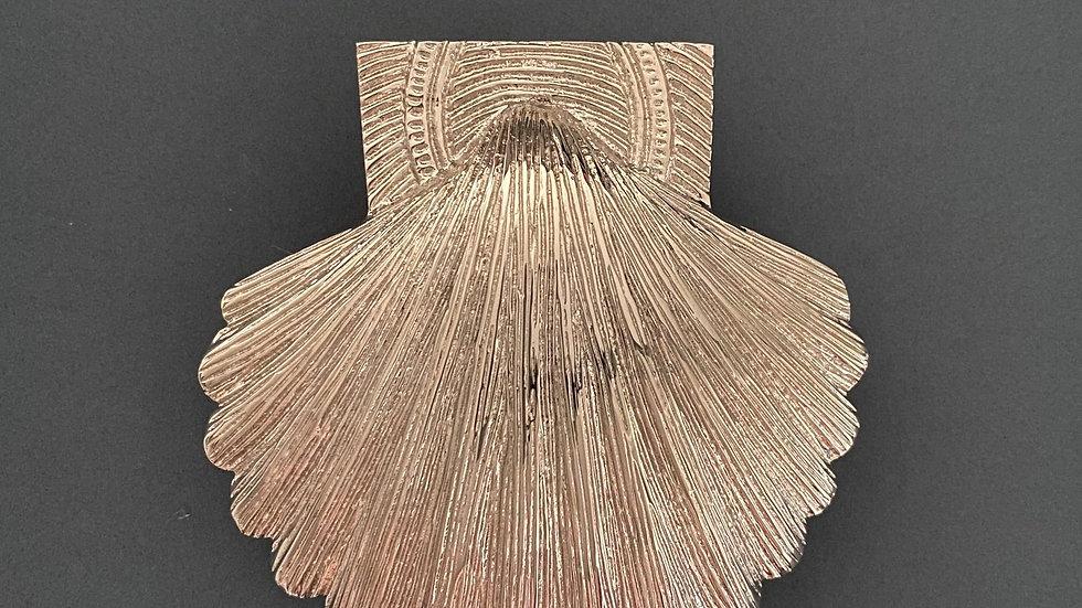 Brass Shell Door Knocker - Nickel Finish
