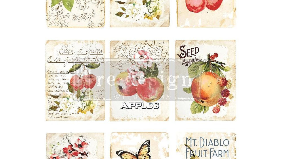 REDESIGN DÉCOR TRANSFERS® – SWEET APRICOT 22″X 30″