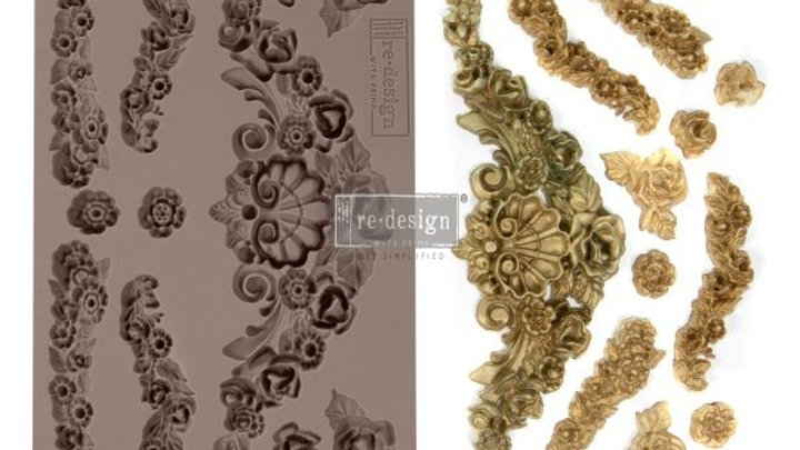 'Tillurie Flourishes' Decor Mould - Redesign With Prima