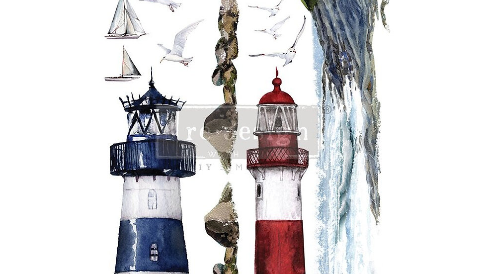 "'Lighthouse' Decor Transfer | Redesign With Prima | Large 23"" X 34"""