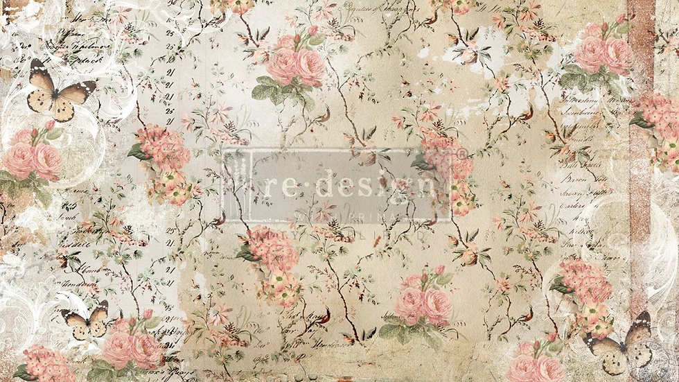 BRAND NEW 'Botanical Imprint' Decopage Decor Tissue - Redesign With Prima