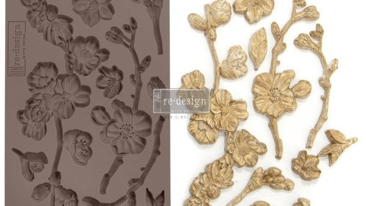'Cherry Blossoms' Decor Mould - Redesign With Prima