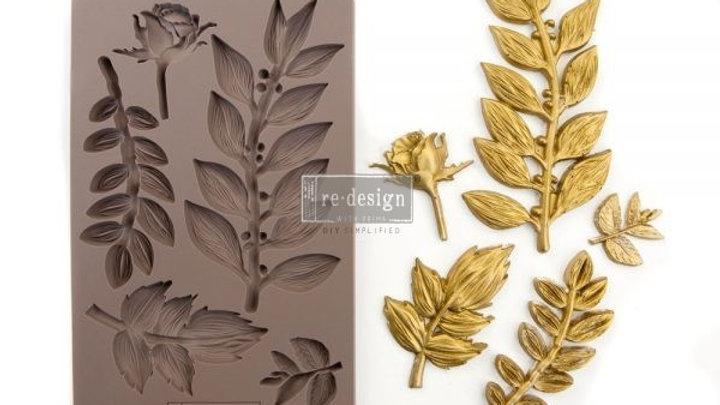 'Leafy Blossoms' Decor Mould - Redesign With Prima