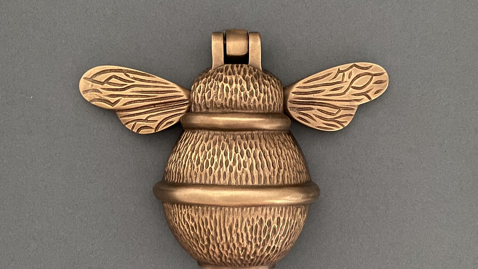 Brass Bumble Bee Door Knocker - Bronze Finish