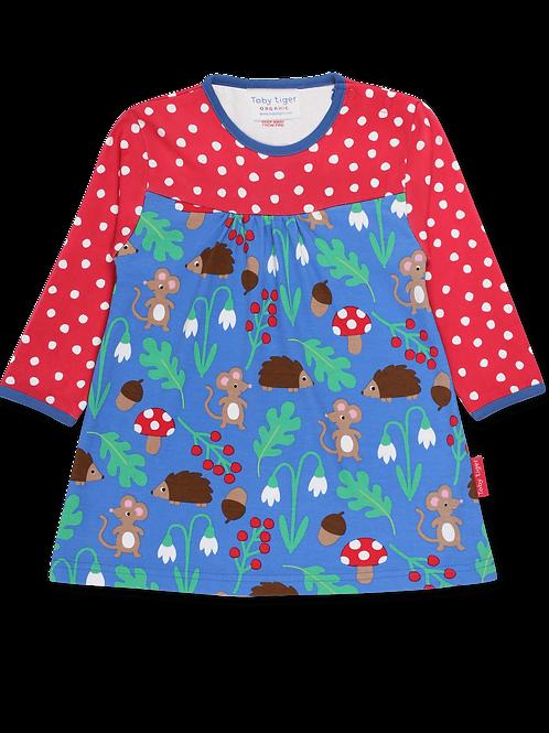 Organic Woodland Print Dress