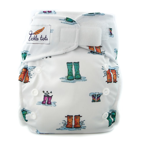 Tickle Tots AIO Cloth Nappy -Wellies