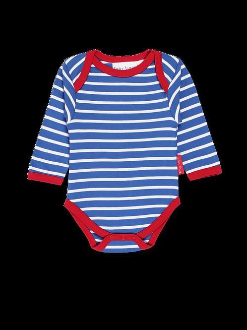 Organic Blue Stripe Bodysuit
